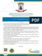 Concuro Rio Grande 2014 Português