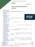 Modelo de Interrogatorio a Testigos - Derecho Mexicano