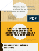 Analisis Funcional de Las Bacteria en Medios Acuaticos