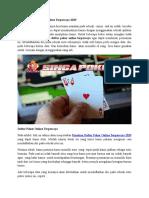 Panduan Daftar Poker Online Terpercaya 2019