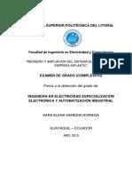 Tesis Rediseno y Ampliacion Empresa de Plasticos Tesis Espol