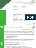 Procesos de preimpresión - Unidad 2 - Tratamiento de textos