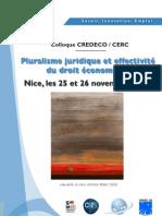 Programme pluralisme juridique et effectivité du droit économique