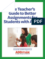 the teachers guide to better assignments for students with adhd
