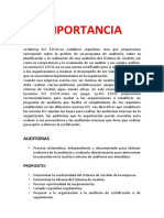 Importancia Iso 19001 Word