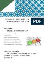 proformance assessments