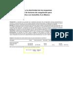 Análisis Del Costo y La Efectividad de Los Esquemas de Administración de Factores de Coagulación Para El Manejo de Niños Con Hemofilia a en México