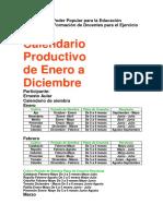 calendario productivo