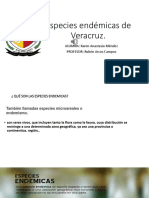 Especies Endémicas de Veracruz