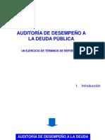 Auditoria de Desempeño Publico