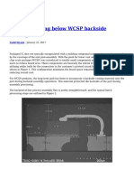 Dangers Lurking Below WCSP Backside Coatings