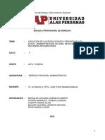Ejecución de Las Resoluciones y Revisión de Los Actos Administrativos-trab Final (1)
