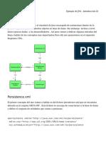Ejemplo de JPA , Introducción (I)