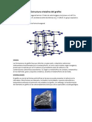 Estructura Cristalina Del Grafito Docx Grafito Carbón