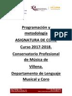 Programación de coro