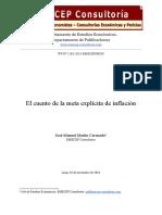 El Cuento de La Meta de Inflacion - José-Manuel Martin Coronado