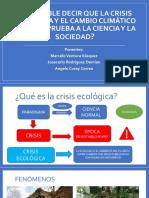 La crisis ecologica segun la filosofia