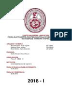 Informe N°4 - Fuerza electromotriz, resistencia interna, eficiencia y potencia de una fuente de corriente continua
