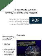 Comets Asteroids Meteoroids