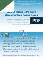 D'Argenio Sarazzi - Uso Di Micro UAV Per Il Rilevamento a Bassa Quota