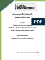 Ensayo. Políticas Educativas Internacionales