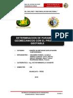 Indickadores Geomecanicos Veta Juanita Ramal Zona Norte Nv 180