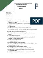 Cuestionario de Ecologia 1