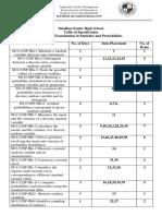 Statistics and Probability - Midterm Examination (TOS)