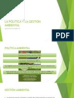 La Política y La Gestión Ambiental