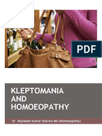 Kleptomania and Homoeopathy