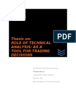 Role of Technical Analysis as a Tool for Trading Decisions