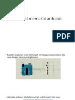 Tutorial Memakai Arduino