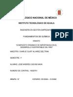 Ensayo Compuestos Orgánicos Deimportancia en El Desarrollo Sustentable Del País.