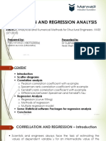 Correlation, Regression Analysis in Civil Engineering