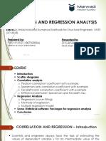 Correlation, Regression Analysis in Civil Engineering