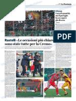 La Provincia Di Cremona 10-12-2018 - Rastelli