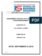 Assignment on Role of It in Supply Chain Management