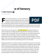 The Science of Sensory Marketing