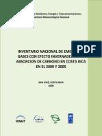 Inventario Gei Costa Rica