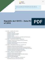 Data Privacy Statute