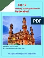 Top 10 Best Digital Marketing Training Institutes In Hyderabad