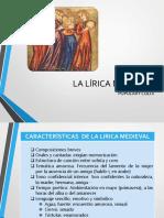 LA EDAD MEDIA. La Lírica Medieval (1)