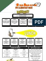 Walla Walla Public Schools elementary menu
