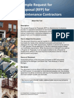Sample RFP for Maintenance Contractors