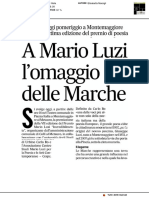 A Mario Luzi l'omaggio delle Marche - Il Corriere Adriatico del 9 dicembre 2018