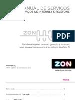 ZON HUB Manual de Servicos