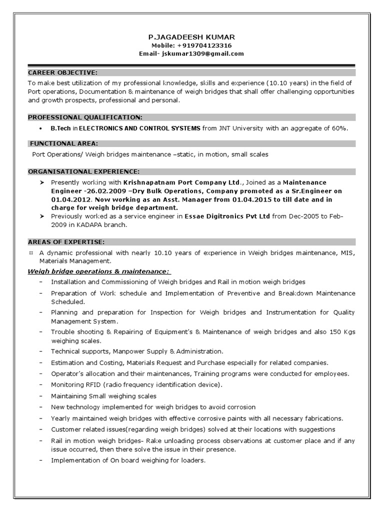 Resume Jag A | Radio Frequency Identification | Technology