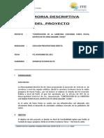 01 Memoria Del Proyecto - Punta Picata