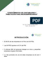 Conocimientos de Contabilidad y Tributación para Microempresarios - Ms. CPCC. Rafael Paredes Tejada