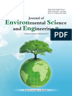 Journal of Environmental Science and Engineering,Vol.6,No.9B,2017